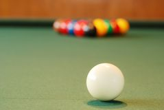 Closeup Cue Ball Royalty Free Stock Image