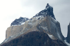 Closeup of Cuernos del Paine mountain Stock Photos