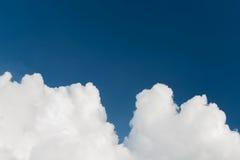 Closeup cumulus white clouds Stock Photos