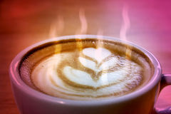 Closeup of a cup of coffee Royalty Free Stock Photography