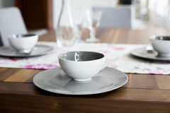 Closeup of cup and plate Stock Image
