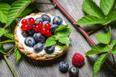 Closeup of cupcake with berry fruits Royalty Free Stock Image