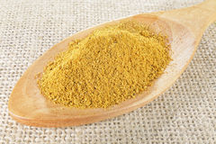 Closeup curry powder Stock Photo