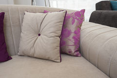 Closeup of cushions on sofa Royalty Free Stock Image