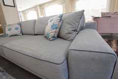 Closeup of cushions on sofa Stock Photography