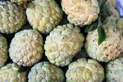 The Closeup of custard apple group Stock Photography