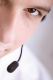 Closeup customer-service Stock Images
