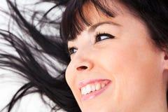Closeup of a cute caucasian woman Stock Photos