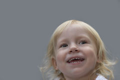 Closeup Of Cute Girl Laughing Stock Image