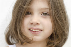 Closeup cute girl portrait Royalty Free Stock Photos