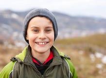 Closeup of a cute kid outdoor Stock Photos