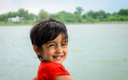 Closeup of Cute Little Indian girl - smiling Royalty Free Stock Photo