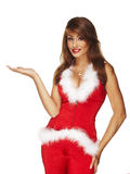 Closeup of a cute Santa lady Stock Photo