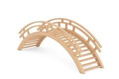 Closeup 3d Wooden bridge Stock Images
