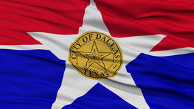 Closeup of Dallas City Flag. Waving in the Wind, Texas State, United States of America Stock Image