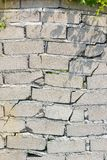 Closeup of dangerous wall with cracks Stock Images