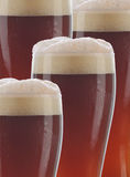 Closeup Dark Beer Glasses Stock Photography