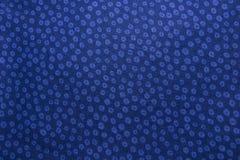 Closeup of dark blue cotton fabric Royalty Free Stock Photo