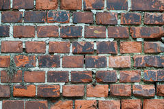 Closeup dark bricks Royalty Free Stock Image