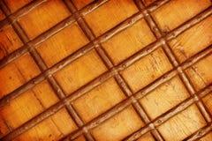 Closeup of dark brown ancient wooden door background Royalty Free Stock Image