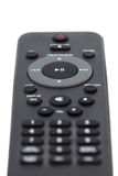 Closeup of a dark grey remote control Royalty Free Stock Images