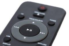 Closeup of a dark grey remote control Stock Photo