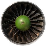 Closeup of a dark jet engine Royalty Free Stock Image