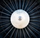 Closeup of a dark jet engine Royalty Free Stock Photography