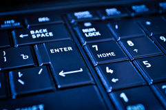 Closeup of a dark keyboard Royalty Free Stock Photos