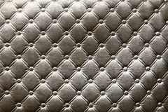 Closeup of dark silver leather pattern delicate striped Stock Image