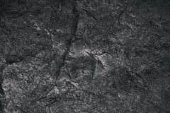 Closeup of dark textured background. Gray rough texture and background for design. Black abstract background made with stone. Old grunge background Royalty Free Stock Photography