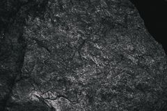 Closeup of dark textured background. Gray rough texture and background for design. Black abstract background made with stone. Old grunge background Royalty Free Stock Image