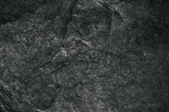 Closeup of dark textured background. Gray rough texture and background for design. Black abstract background made with stone. Old grunge background Stock Image