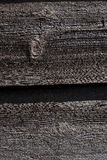 Closeup of dark wooden planks Royalty Free Stock Images