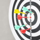 Closeup of dart board with arrows. Concept of hit the target Stock Photos