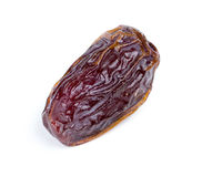 Closeup of date fruit against white Royalty Free Stock Photography