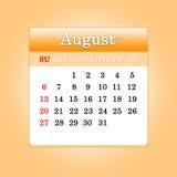 Closeup of dates on calendar page Stock Photos