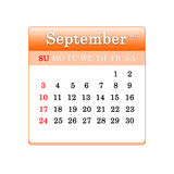 Closeup of dates on calendar page Royalty Free Stock Photo