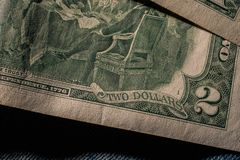Closeup of the Declaration of independence drawing from the back Stock Photo