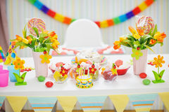 Closeup on decorated for celebration party Royalty Free Stock Images