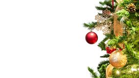 Christmas Tree Website Header Template stock photos