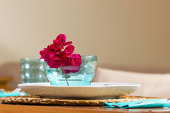 Closeup of decorated lunch table Stock Image