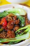 Closeup of deep fried meat cuisine Stock Image