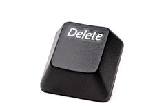 Closeup of a Delete button Stock Photography