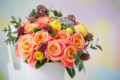 Closeup of delicate flower bouquet Royalty Free Stock Photography