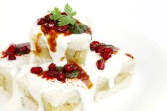 Closeup of delicious bread dahi vada Stock Photo