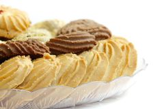 Closeup of delicious butter biscuits Royalty Free Stock Images