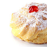 Closeup of delicious Cherry puff pastry with powdered sugar Stock Images