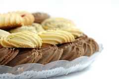 Closeup of delicious cocoa biscuits Royalty Free Stock Photo