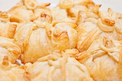 Delicious crunchy sweet puffs Royalty Free Stock Photo